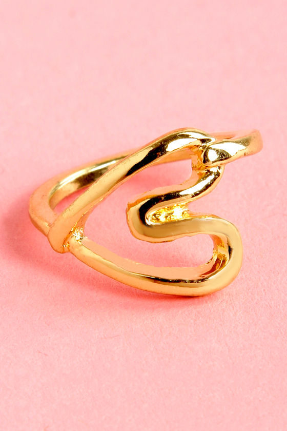 Heart Act to Follow Gold Heart Knuckle Ring at Lulus.com!