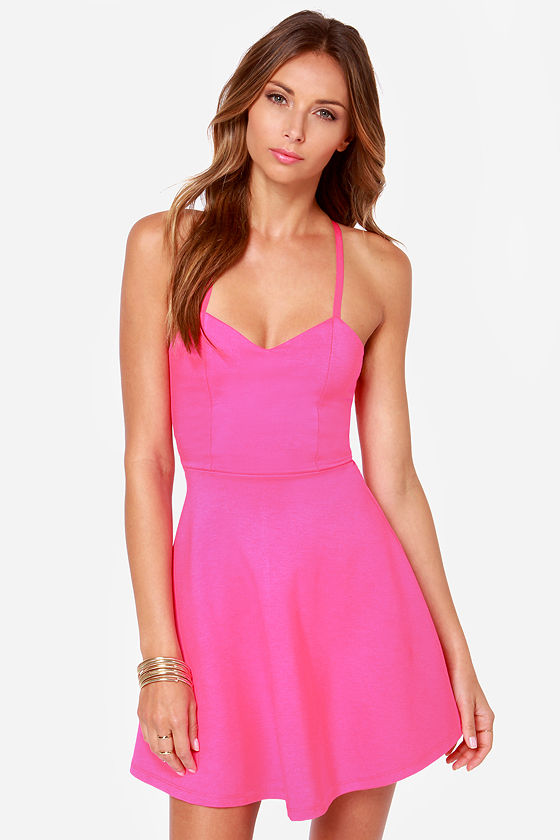 LULUS Exclusive Take Heart Hot Pink Dress at Lulus.com!