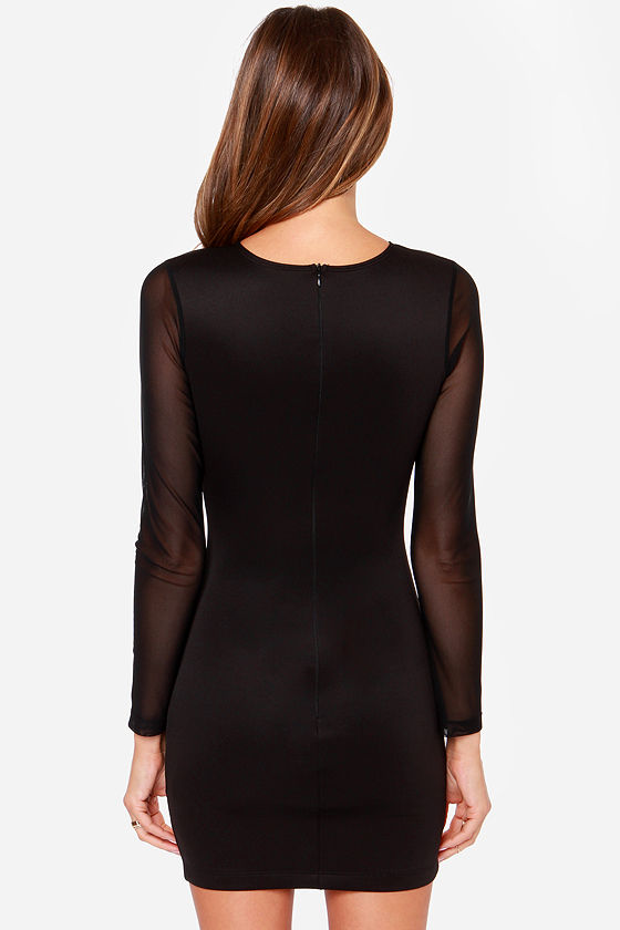 One Rad Girl Giselle Cutout Black Dress at Lulus.com!
