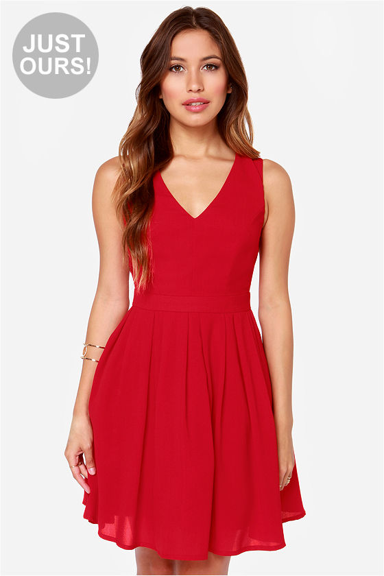 Cute Red Dress - Sleeveless Dress - $49.00