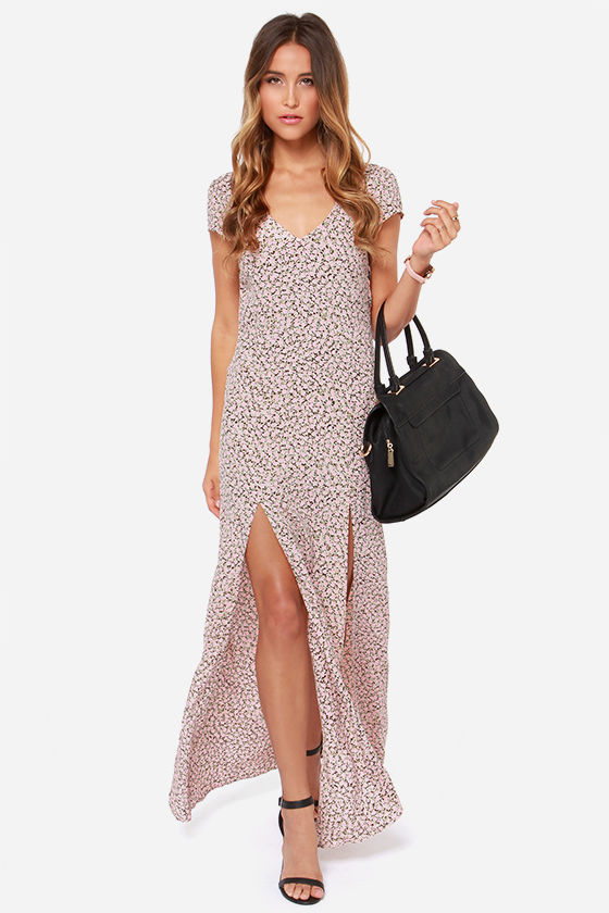 For Love & Lemons Hailey Pink Floral Print Maxi Dress at Lulus.com!