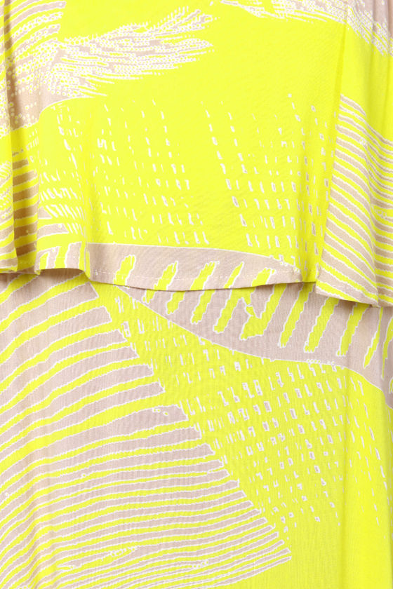 Electric or Two Bright Yellow Print Maxi Dress at Lulus.com!