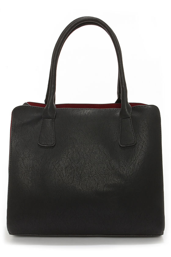 Dash of Demure Black Tote at Lulus.com!
