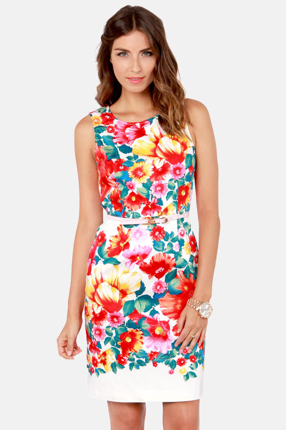 Flora Good Reason Floral Print Dress at Lulus.com!