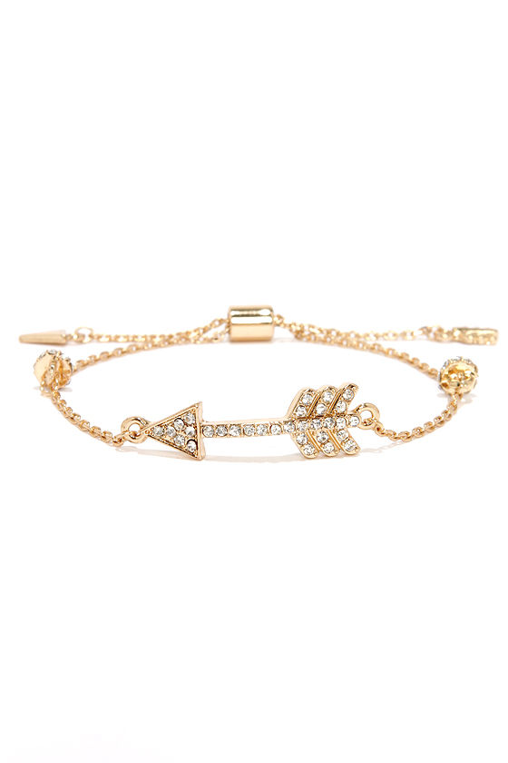Lovestruck Gold Arrow Bracelet at Lulus.com!