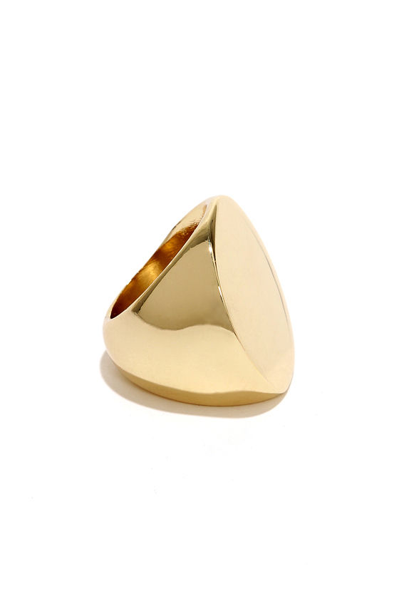 Round and Round Gold Ring at Lulus.com!