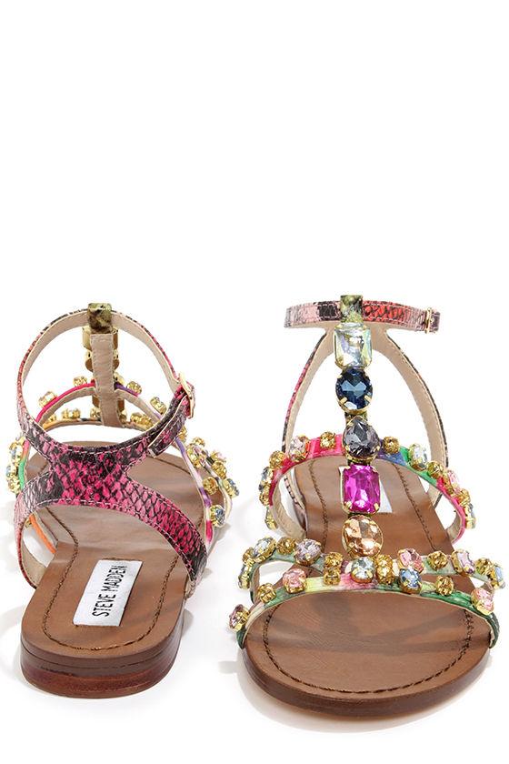 cf890eb2f405f Steve Madden Bjeweled Bright Multi Rhinestone Sandals