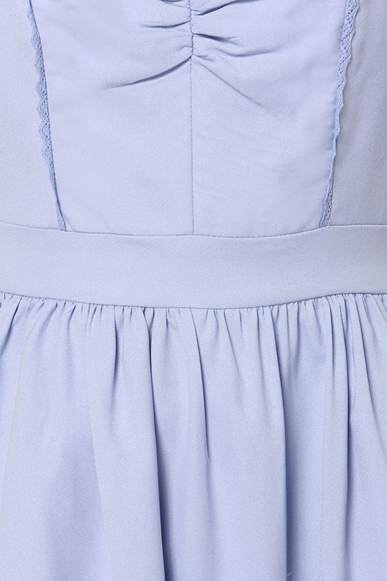 Fleeting Moment Periwinkle Dress at Lulus.com!