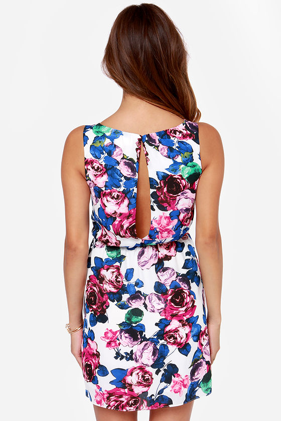 Olive & Oak Golden Afternoon Ivory Floral Print Dress at Lulus.com!