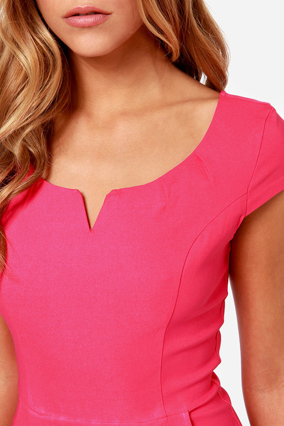 LULUS Exclusive Work Wonders Hot Pink Dress at Lulus.com!
