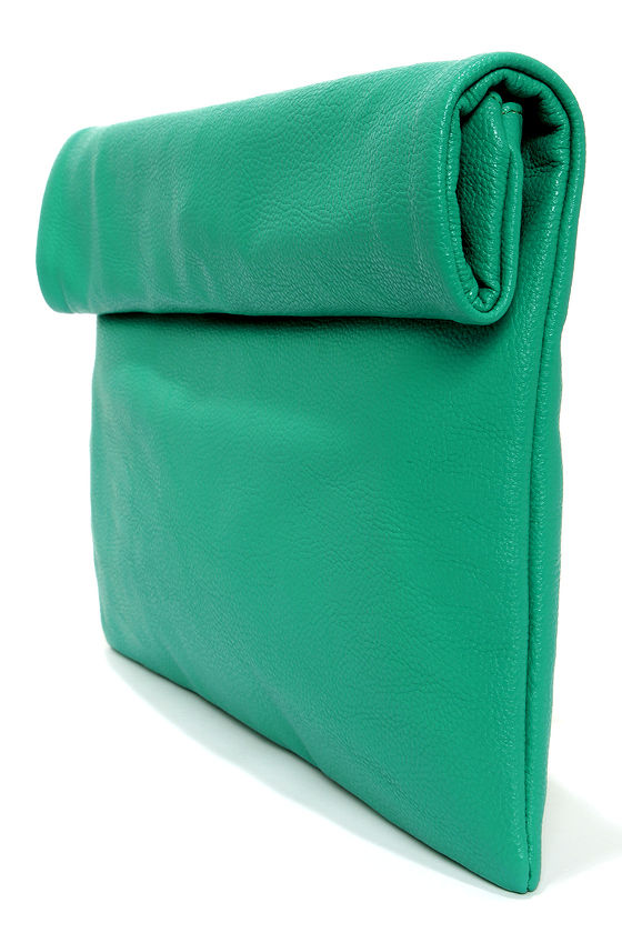 Roll Along Sea Green Clutch at Lulus.com!