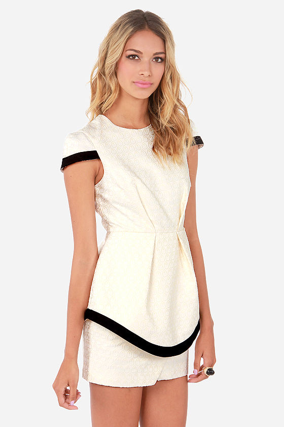 Keepsake Nobody's Fool Ivory Jacquard Dress at Lulus.com!