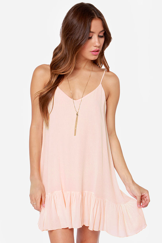 Let It Flow Light Peach Dress - $34 : Fashion Dresses Under $50 at ...
