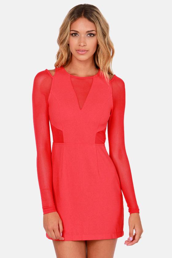Lush Life Cutout Red Dress at Lulus.com!