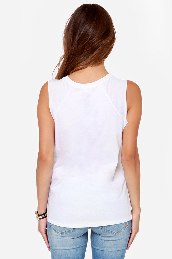 Billabong Awesome Saucez White Muscle Tee at Lulus.com!