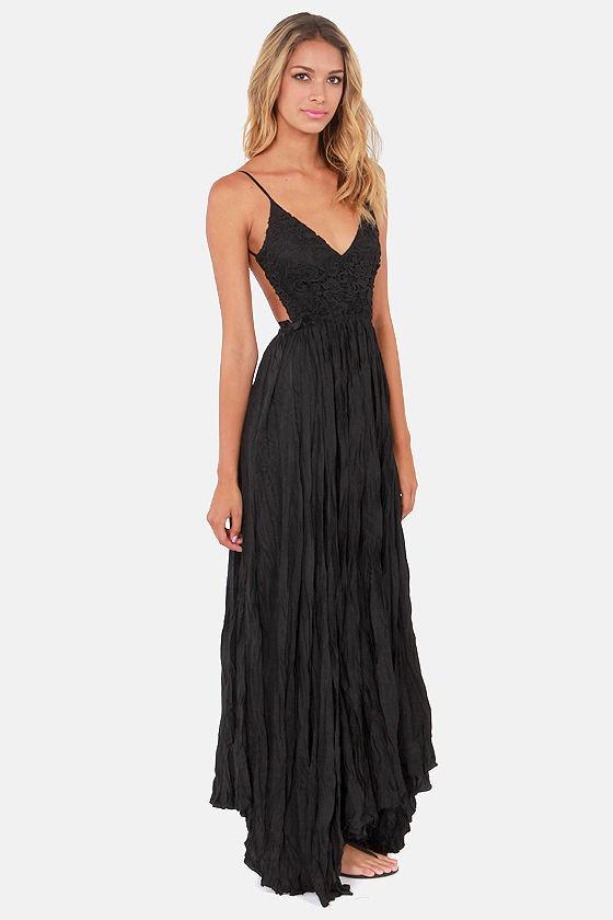 Lulus crocheted maxi dress