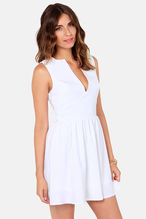 Smiles Per Hour White Dress at Lulus.com!