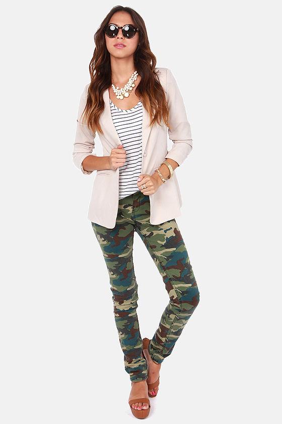 dd186434314ff Element Eden Tatum Jeans - Camo Print Jeans - Skinny Jeans - $59.50