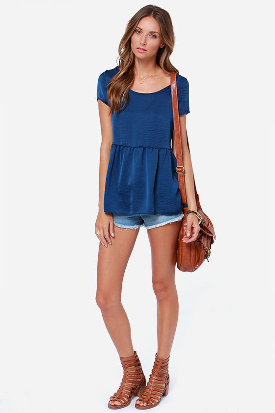 LULUS Exclusive Night Visions Navy Blue Top at Lulus.com!