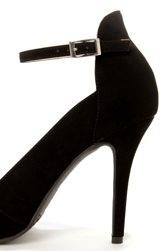 Anne Michelle Momentum 36 Black D'Orsay Pointed Pumps at Lulus.com!