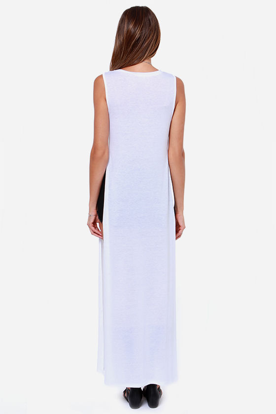 LULUS Exclusive Long Number White Maxi Top at Lulus.com!