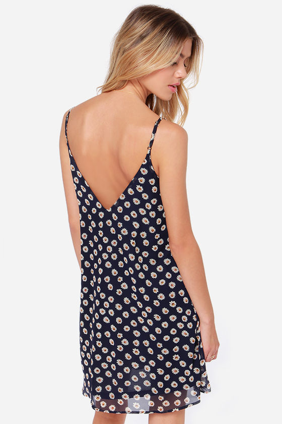 LULUS Exclusive American Floral Story Navy Daisy Print Dress at Lulus.com!