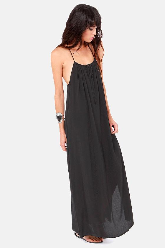Lucy Love Paris Black Maxi Dress at Lulus.com!
