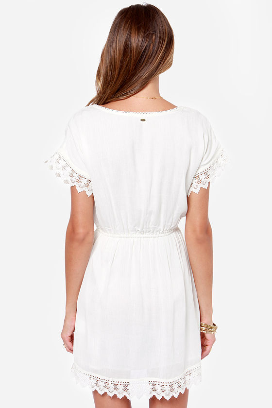 O'Neill Sea Breeze Ivory Lace Dress at Lulus.com!