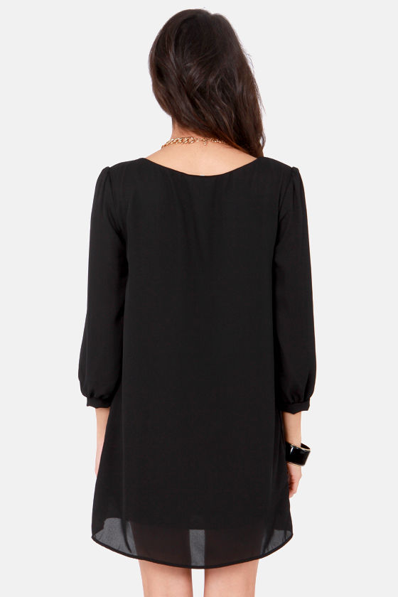 World's Greatest Black Shift Dress at Lulus.com!