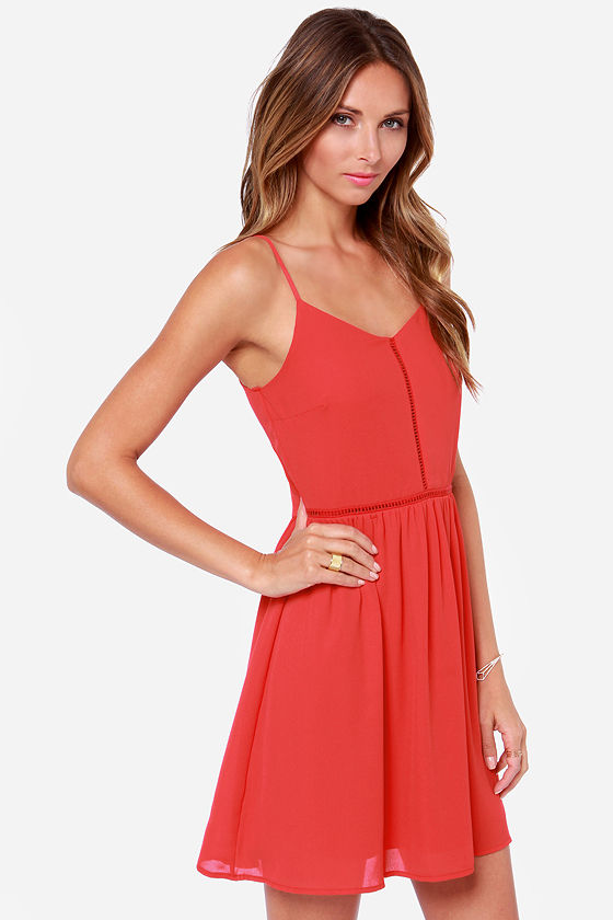 Where the Heart Is Red Dress at Lulus.com!