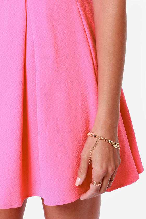 LULUS Exclusive Bright On Point Neon Pink Dress at Lulus.com!