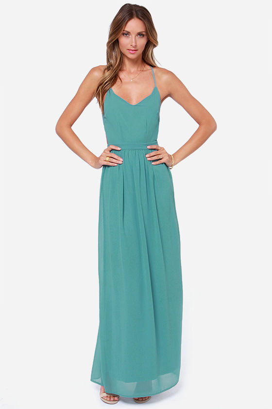 LULUS Exclusive Under the Arbor Backless Sage Green Maxi Dress at Lulus.com!