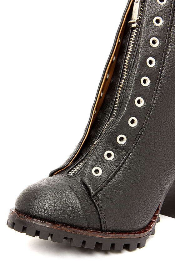 Report Signature Alexea Black High Heel Ankle Boots at Lulus.com!