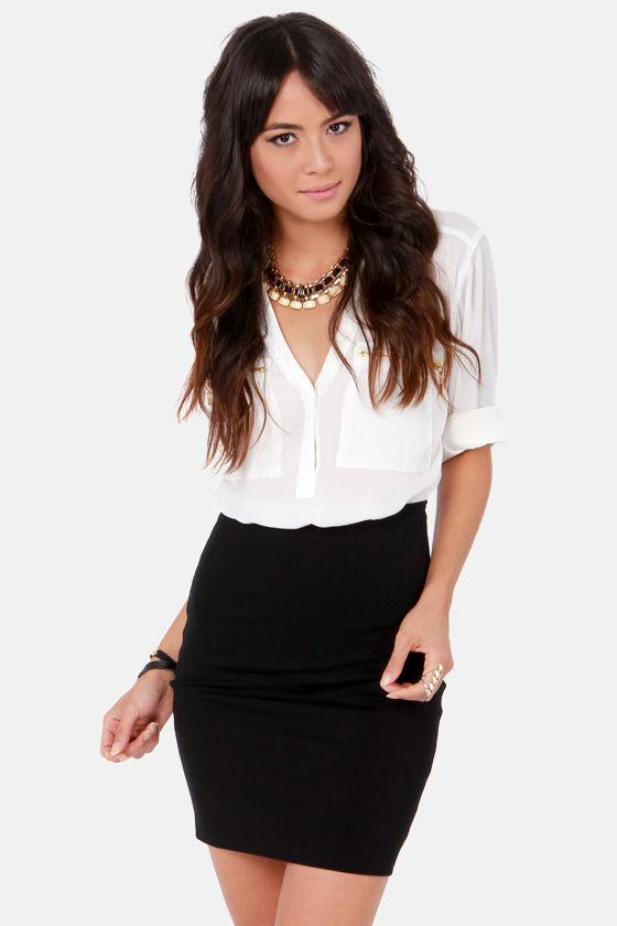 Cute High Waisted Skirt Black Skirt Mini Skirt 30 00