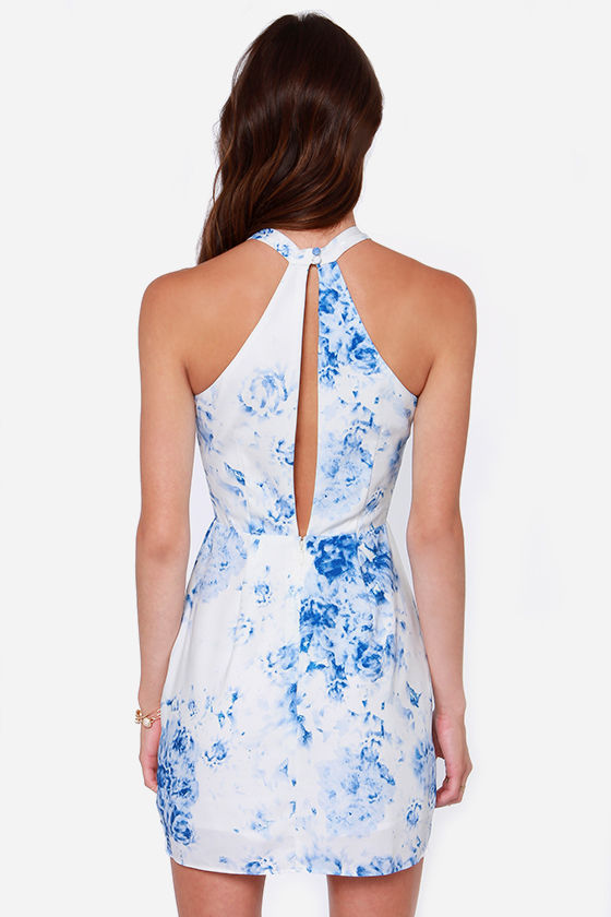 Keepsake Real Love Blue and White Print Dress at Lulus.com!