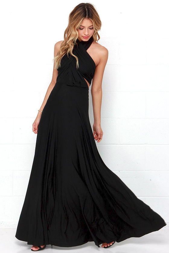 Awesome Black Dress - Maxi Dress - Wrap Dress - $78.00