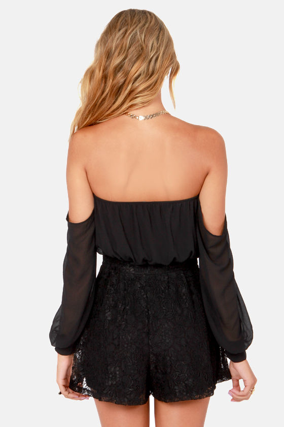LULUS Exclusive I Love Lacy Black Lace Romper at Lulus.com!