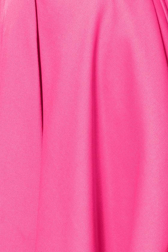 Flirting With Danger Cutout Fuchsia Dress at Lulus.com!