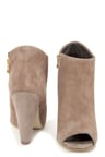 Steve Madden Paulina Taupe Suede Peep Toe Ankle Booties -  129.00 b95d7a75ee04