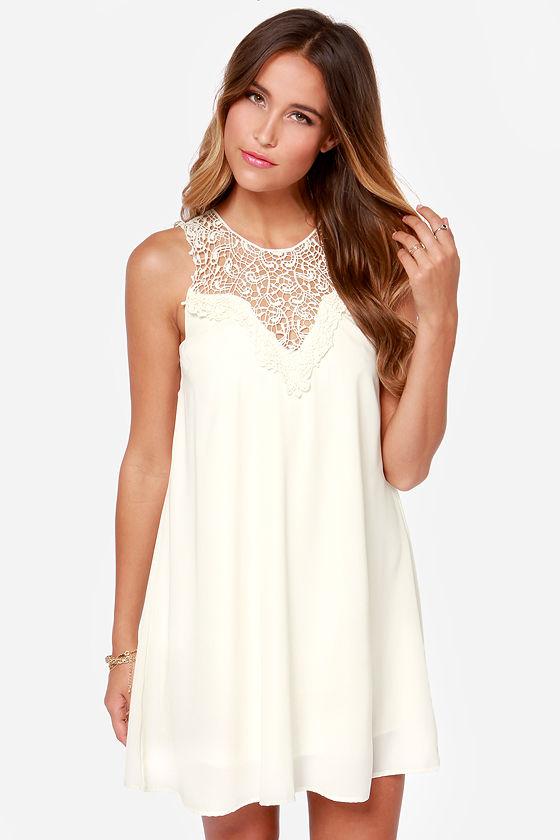 5360b54d3b54 Sleeveless Dress - Cream Dress - Slip Dress - $38.00