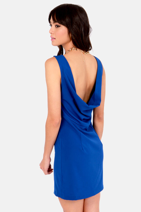 Lucy Love Dupre Cobalt Blue Dress at Lulus.com!