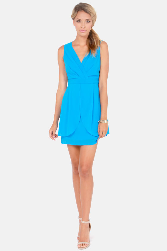 Truth or Darling Sleeveless Blue Dress at Lulus.com!