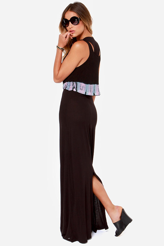 Volcom OMGWTF Black Tie-Dye Maxi Dress at Lulus.com!