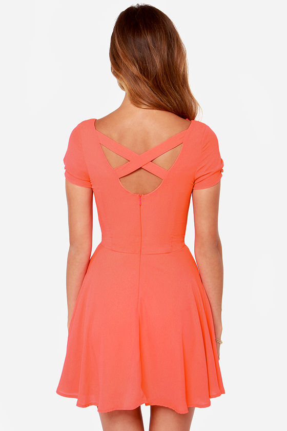 LULUS Exclusive Pretty Little Ditty Coral Dress at Lulus.com!