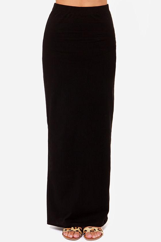 RVCA Berenice Black Maxi Skirt at Lulus.com!