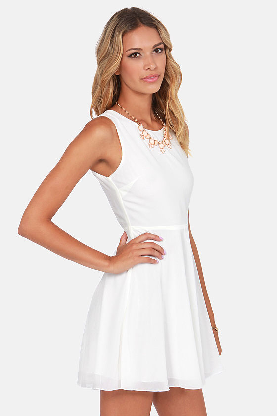 In Rare Form Backless Ivory Dress at Lulus.com!