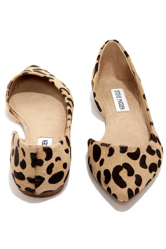e9c811f878cb Cute Leopard Flats - Pony Fur Flats - D'Orsay Flats - $79.00