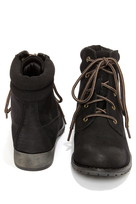 Cute Black Boots - Work Boots - Workboots - Utility Booties - $59.00