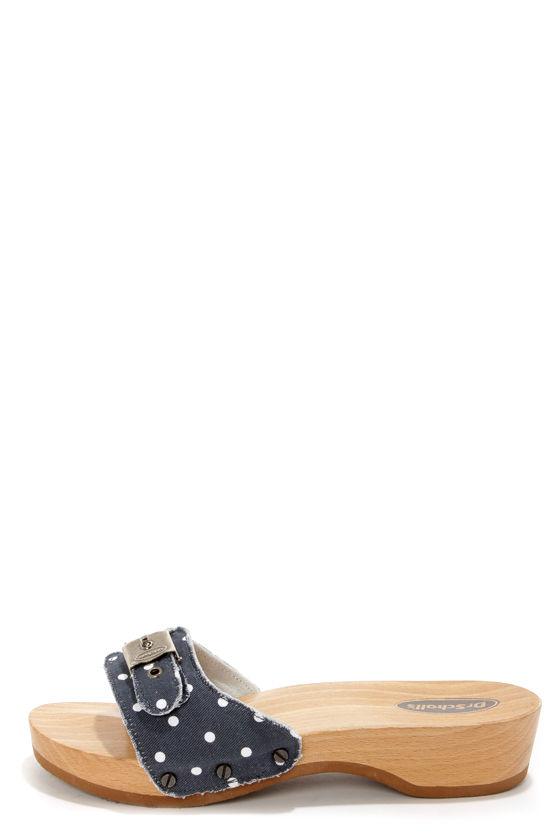 643440999c00 Dr. Scholl s Original Navy and White Polka Dot Slide Sandals -  78.00