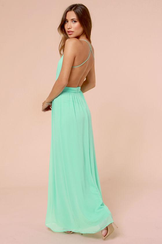Lulu s green maxi dress